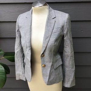 J CREW schoolboy blazer gray wool crosshatch 0